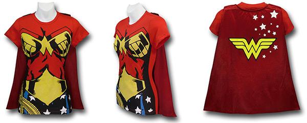 Wonder Woman Caped Costume Shirt