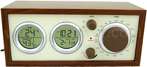 Wooden USB Clock Radio