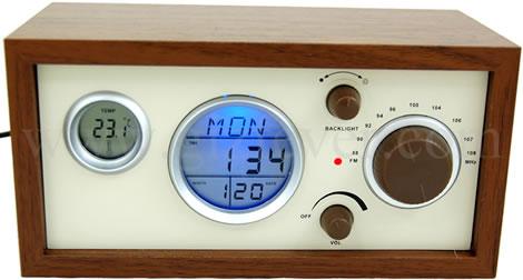 Wooden USB Clock Radio