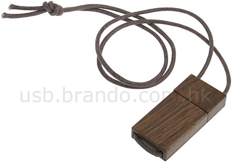 Wooden USB Memory Strap