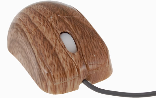 Wooden Style USB Mouse