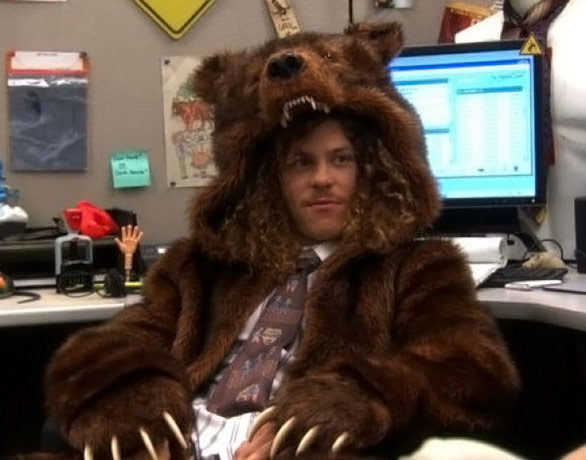 Workaholics Bear Coat Blake Wears