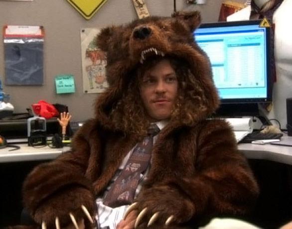 Workaholics Bear Coat Blake Wears