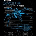 T-65 X-wing Starfighter Schematic T-Shirt