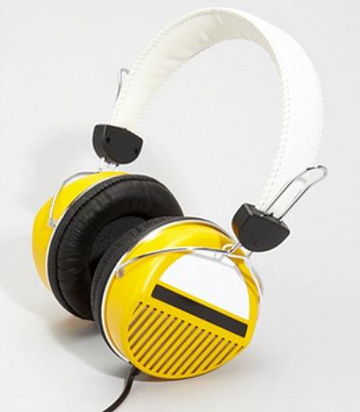 Yellow Retro Headphones