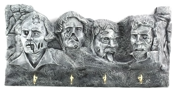 Zombie Mount Rushmore Letter and Key Holder