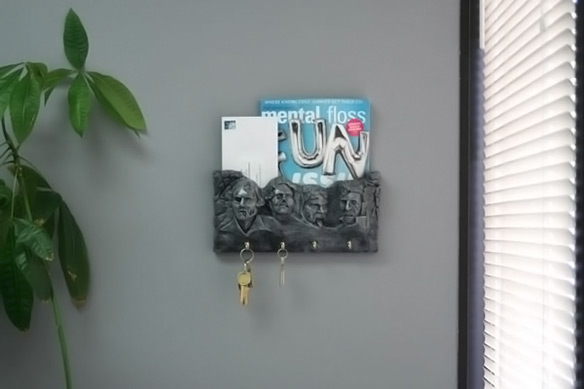 Zombie Mount Rushmore Key and Letter Holder