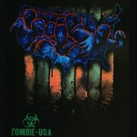 Zombie USA Map T-Shirt