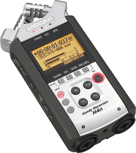 Zoom H4n Handheld 4 Channel High Resolution Recorder