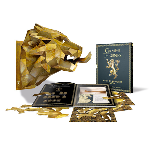 Game of Thrones House Lannister Lion Paper Mask Book