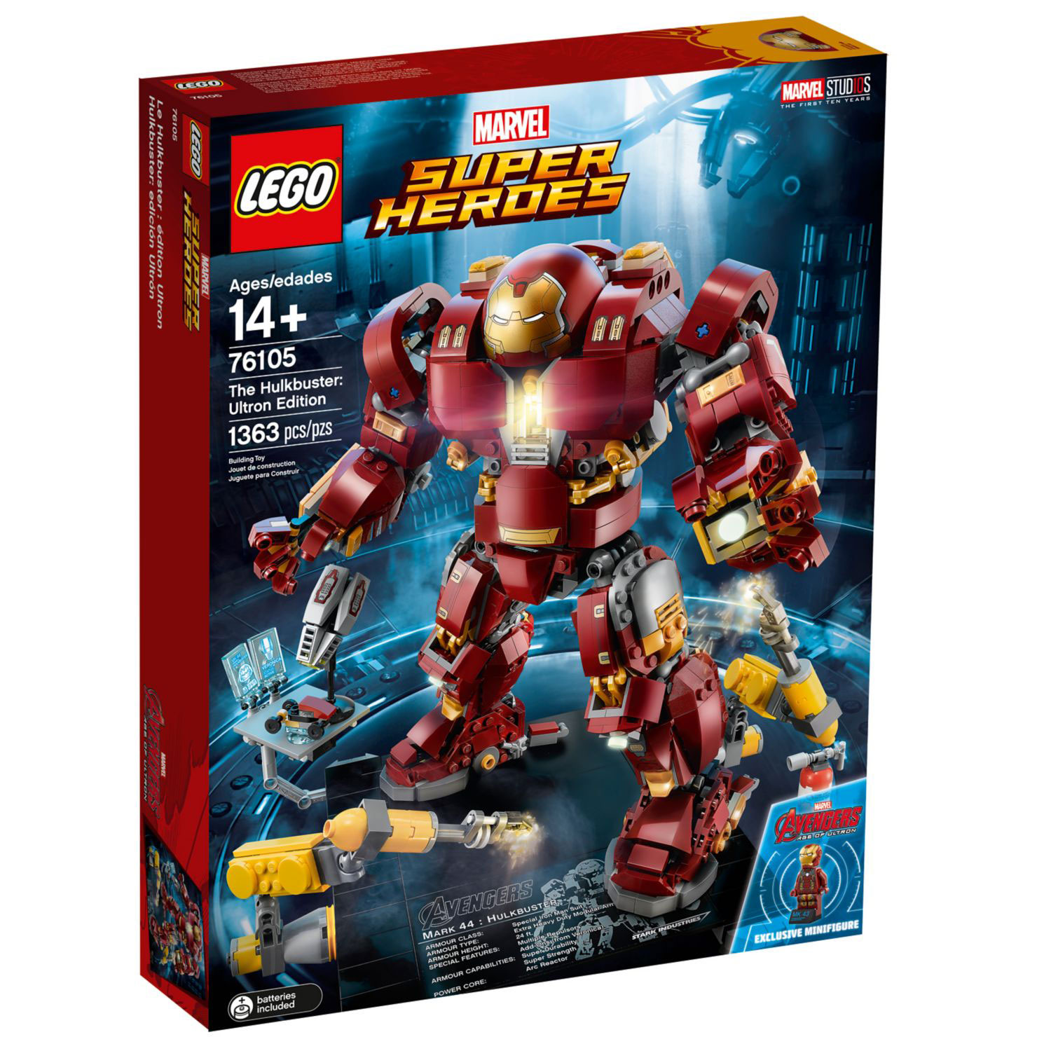 LEGO Hulkbuster Ultron Edition 76105 Set