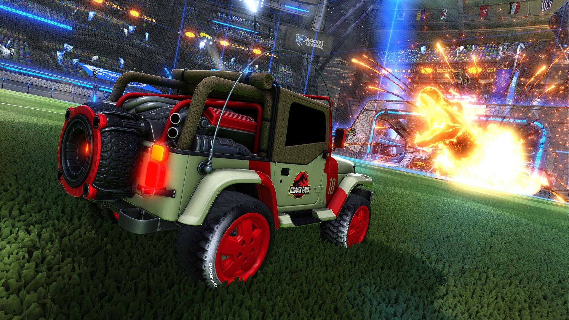 Rocket League Jurassic Park Jeep