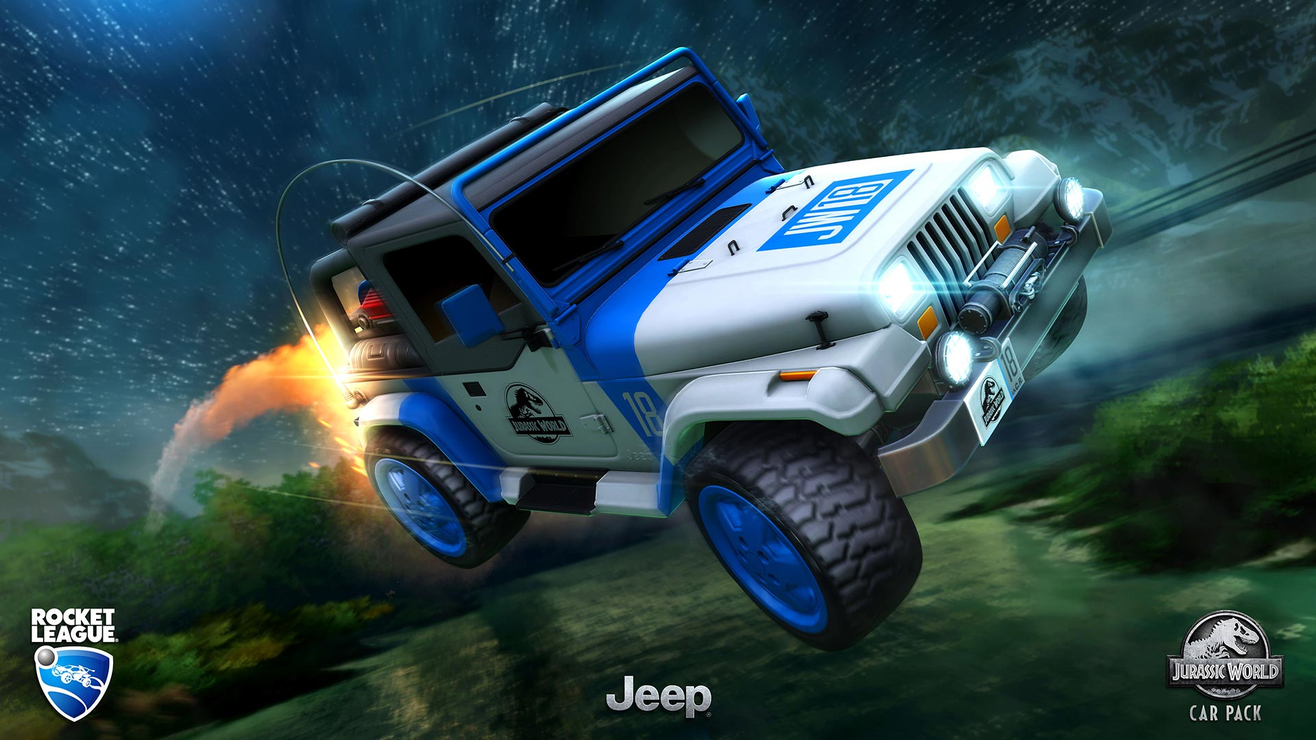 Rocket League Jurassic World Jeep